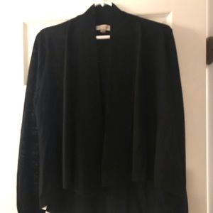 Loft black cardigan, size large